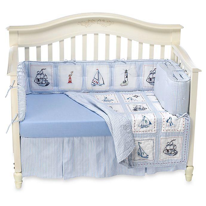 Whistle Amp Wink High Seas 3 Piece Crib Bedding Set Bed