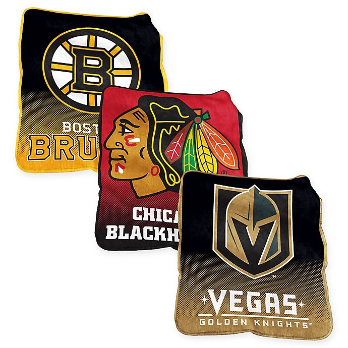 Alternate image 1 for NHL Raschel Throw Blanket Collection