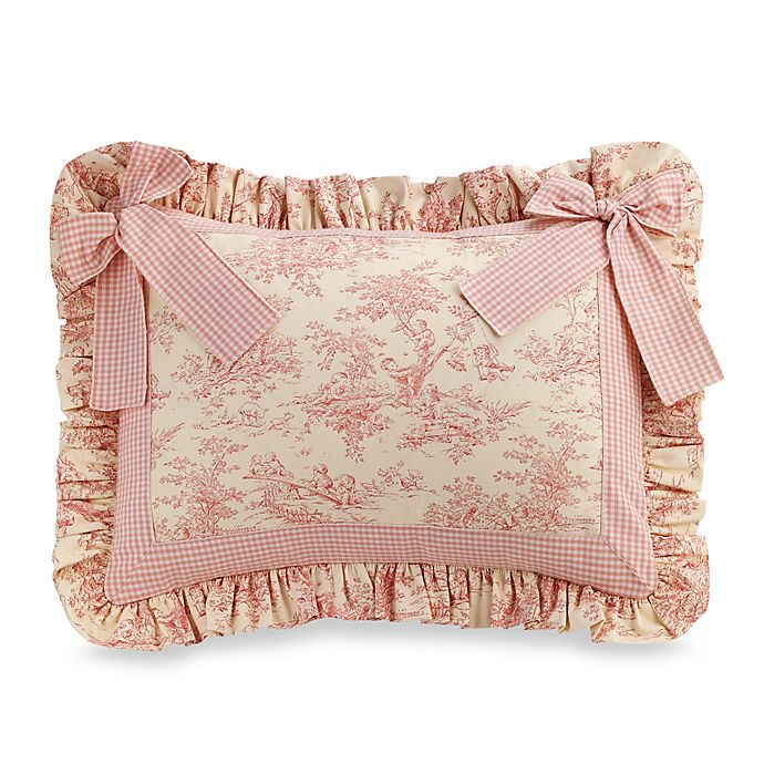 Glenna Jean Madison Toile Pillow Sham With Bow Buybuy Baby