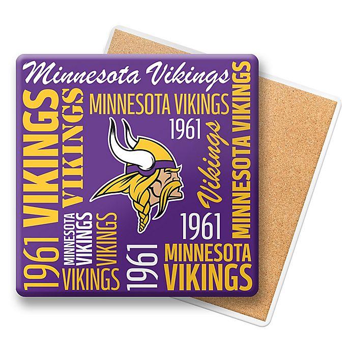 Alternate image 1 for NFL Minnesota Vikings Coasters (Set of 6)