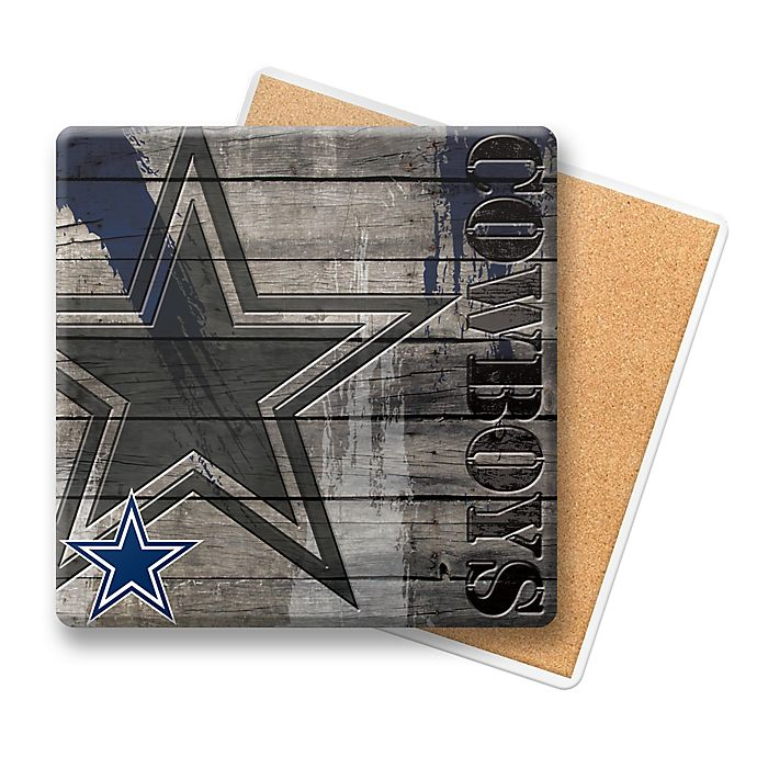 Dallas Cowboys Stainless Steel Coasters 4 Pack: NFL Dallas Cowboys Wooden Coasters (Set Of 6)