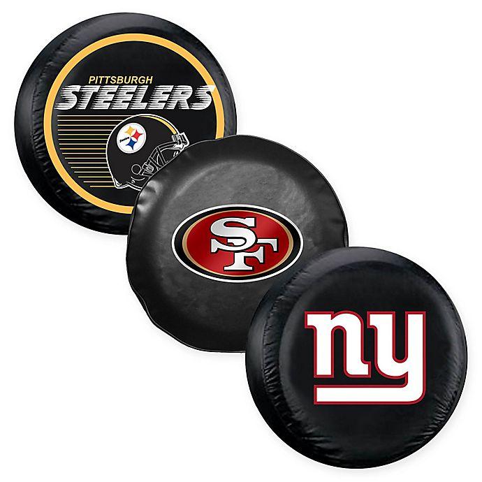 Large Black Fremont Die NFL New Orleans Saints Tire Cover