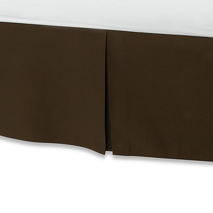 Alternate image 1 for Smoothweave™ 14-Inch Tailored Full Bed Skirt in Chocolate