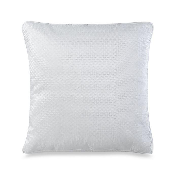 nicole miller argos european pillow sham in white bed. Black Bedroom Furniture Sets. Home Design Ideas