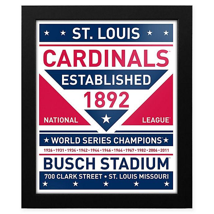 Alternate image 1 for MLB St. Louis Cardinals Dual Tone Team Sign Framed Print