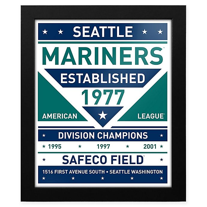 Alternate image 1 for MLB Seattle Mariners Dual Tone Team Sign Framed Print