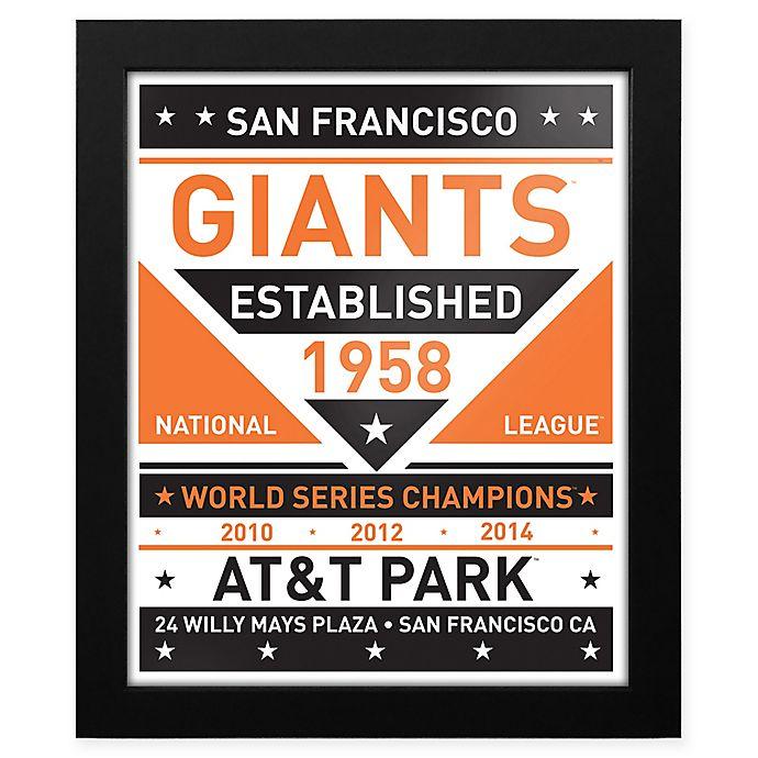 Alternate image 1 for MLB San Francisco Giants Dual Tone Team Sign Framed Print