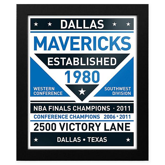 Alternate image 1 for NBA Dallas Mavericks Dual Tone Team Sign Framed Print