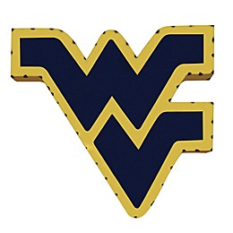 West Virginia University Recycled Metal Wall Décor in Gold/Blue