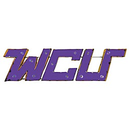 West Chester University Illuminated Recycled Metal Wall Décor in Purple/Yellow