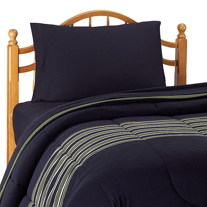 Nautica Glen Cove Navy Comforter With Sheet Set Twin Extra Long