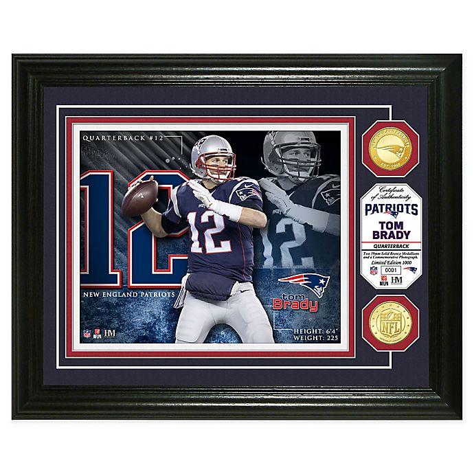 Alternate image 1 for NFL Tom Brady Bronze Coin Photo Mint