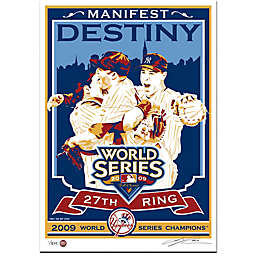 MLB New York Yankees 2009 World Series Champions Serigraph