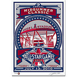 MLB 2010 All-Star Game Angel Stadium That's My Ticket Serigraph