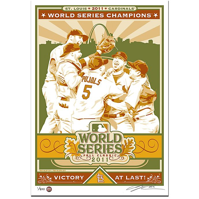 Alternate image 1 for MLB St. Louis Cardinals 2011 World Series Champions Serigraph