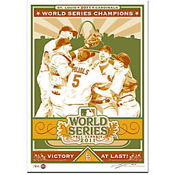 MLB St. Louis Cardinals 2011 World Series Champions Serigraph