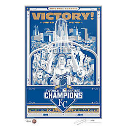 MLB Kansas City Royals 2015 World Series Champions Serigraph
