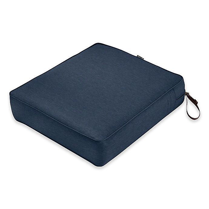 Alternate image 1 for Classic Accessories® Montlake™ FadeSafe Rectangle Outdoor Lounge Seat Cushion in Indigo