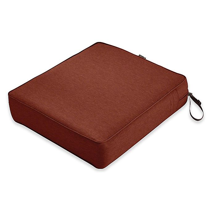 Alternate image 1 for Classic Accessories® Montlake™ FadeSafe Rectangle Outdoor Lounge Seat Cushion in Henna