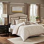 Madison Park Signature Glamorous 8-Piece Queen Comforter Set in Natural