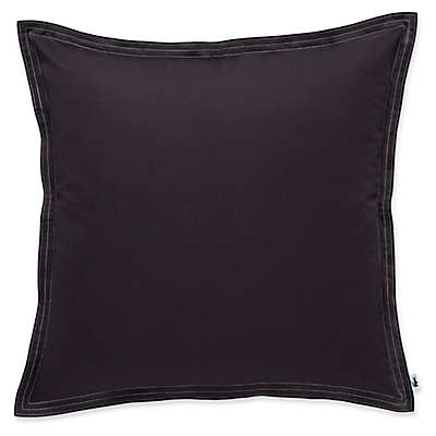Lacoste Washed Sateen Square Throw Pillow in Iron