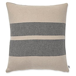 Lacoste Cozy Two-Tone Square Throw Pillow in Taupe