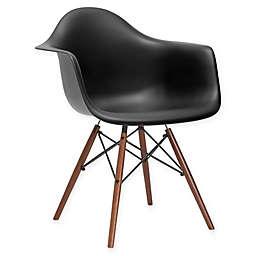 Poly and Bark Vortex Arm Chair with Walnut Legs