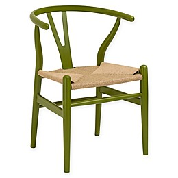 Poly and Bark Weave Dining Arm Chair