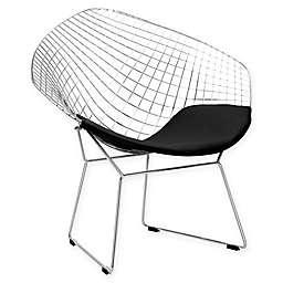 Poly and Bark Chrome Morph Lounge Chair