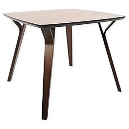 LumiSource Folia Dining Table in Brown