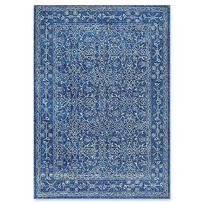 Alternate image 1 for nuLOOM Vintage Waddell 5-Foot x 7-Foot 5-Inch Area Rug in Dark Blue