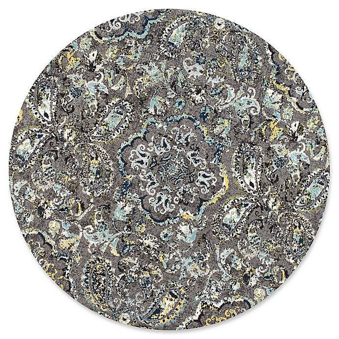 Alternate image 1 for nuLOOM Taunya 8-Foot Round Multicolor Area Rug