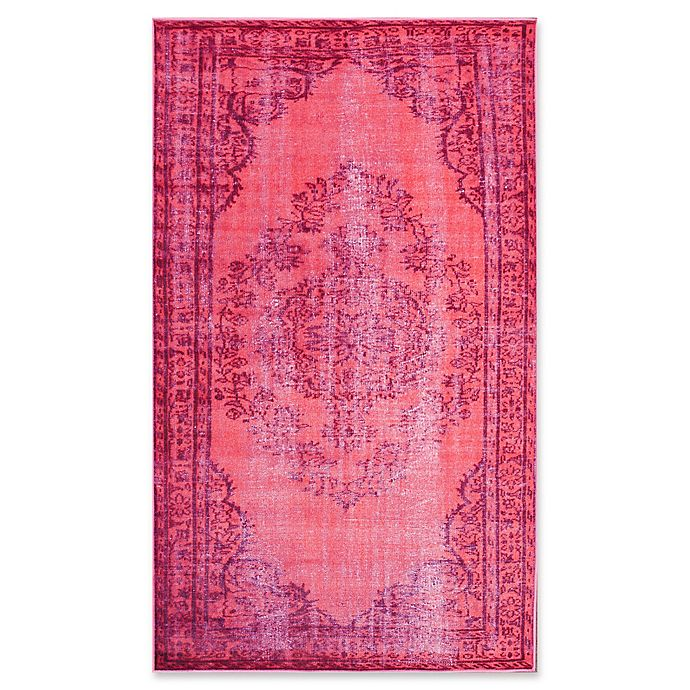 Alternate image 1 for nuLOOM Vintage-Inspired Overdyed Medallion 5-Foot 5-Inch x 8-Foot 2-Inch Area Rug in Pink