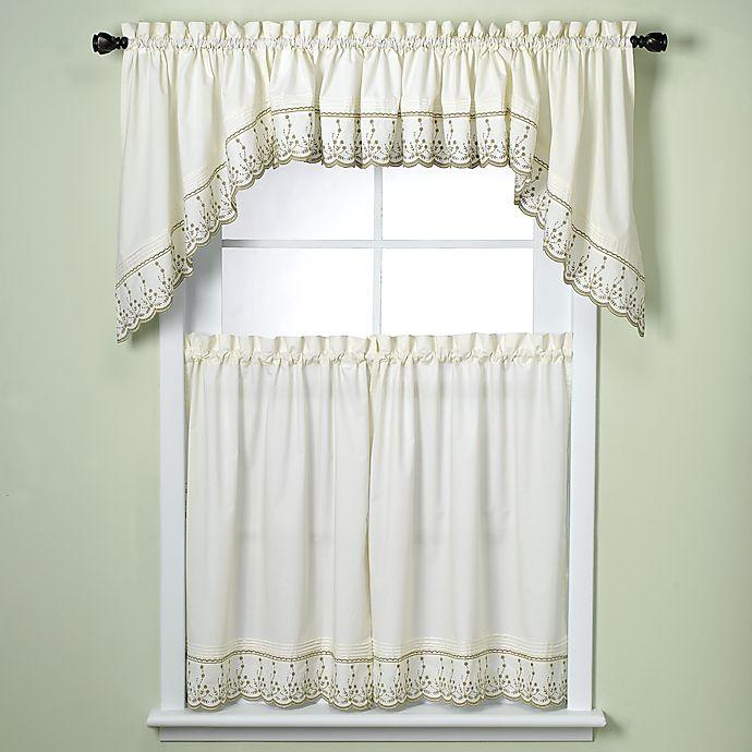 Abby Kitchen Window Curtain Tiers - Sage