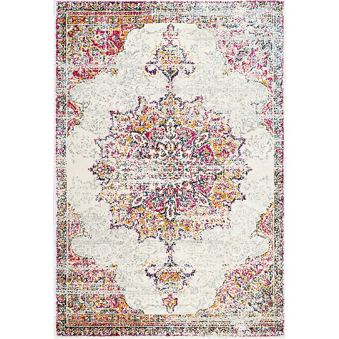 Alternate image 1 for nuLOOM Sunny Wildflower Medallion 6-Foot 7-Inch x 9-Foot Area Rug in Pink