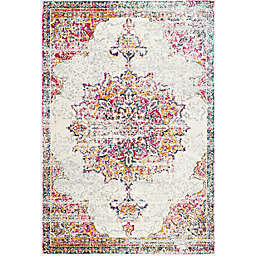 nuLOOM Sunny Wildflower Medallion 10-Foot x 14-Foot Area Rug in Pink
