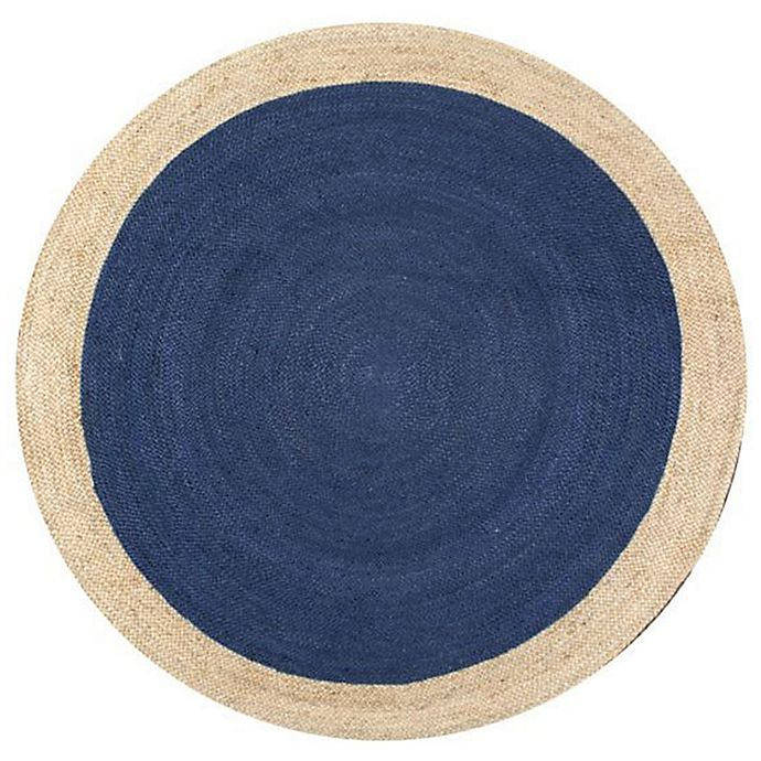 Alternate image 1 for nuLOOM Eleonora 8-Foot Round Area Rug in Blue