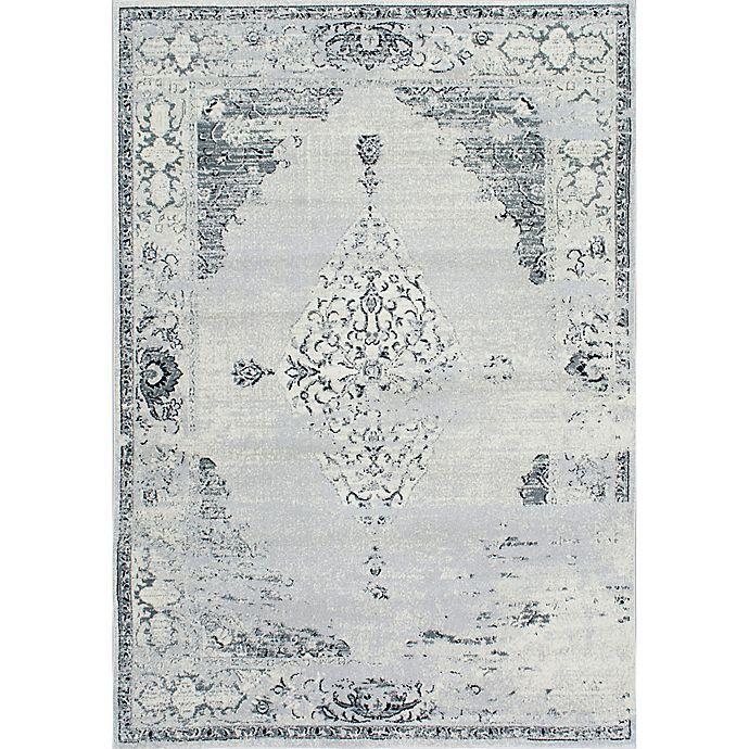 Alternate image 1 for nuLOOM Vintage Sherrell 7-Foot 10-Inch x 11-Foot Area Rug in Light Grey