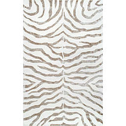nuLOOM Plush Zebra 2-Foot x 3-Foot Accent Rug in Grey