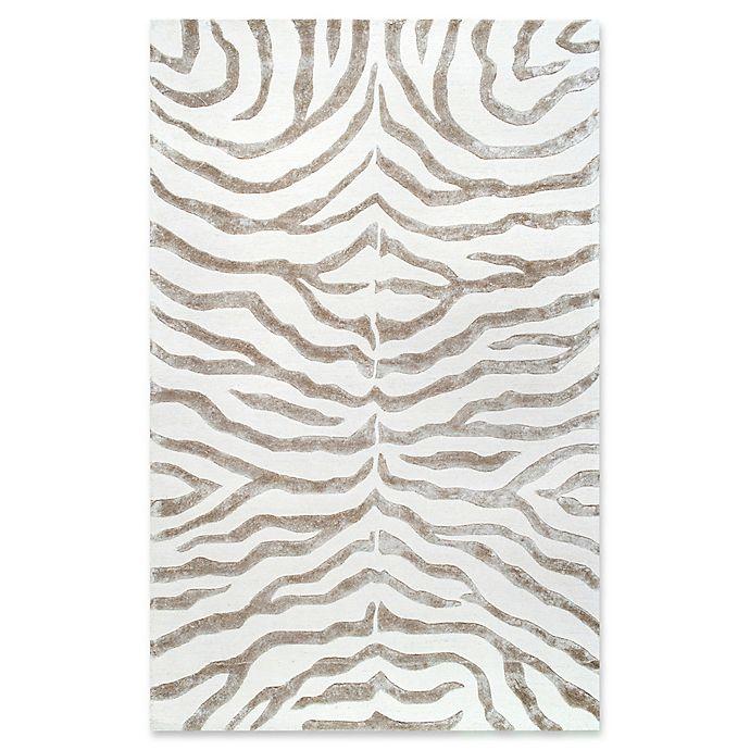Alternate image 1 for nuLOOM Plush Zebra Rug in Grey