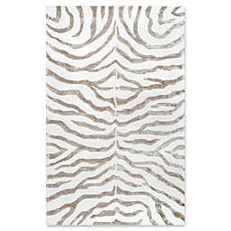 nuLOOM Plush Zebra Rug in Grey
