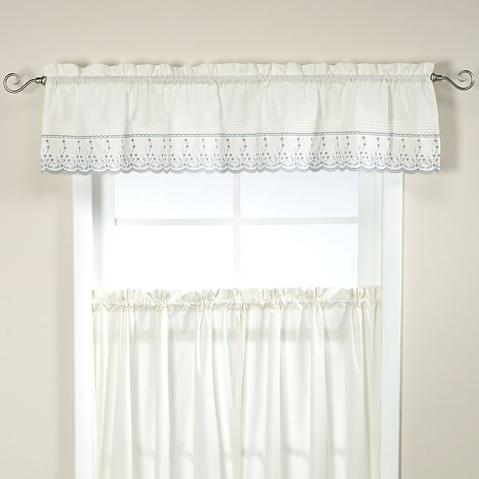 Abby Kitchen Window Tailored Valance In Wedgwood