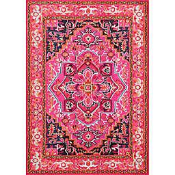 nuLOOM Vintage Mackenzie 9-Foot x 12-Foot Area Rug in Pink