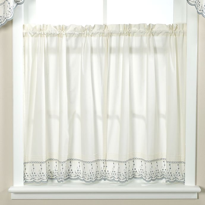 Kitchen Window Drapes: Buy Abby Wedgwood Kitchen Window Curtain Tier Pair