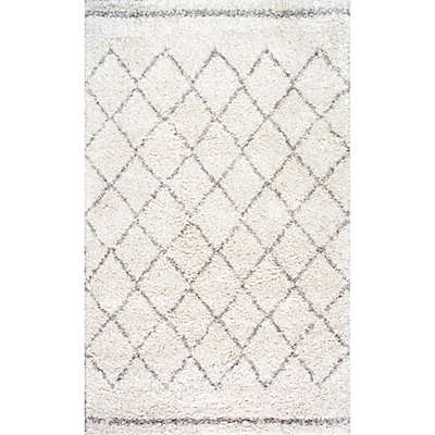 nuLOOM Vennie Shaggy Rug in Natural