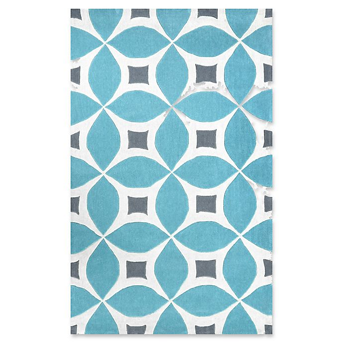 Alternate image 1 for nuLOOM Gabriela 5-Foot x 8-Foot Area Rug in Baby Blue