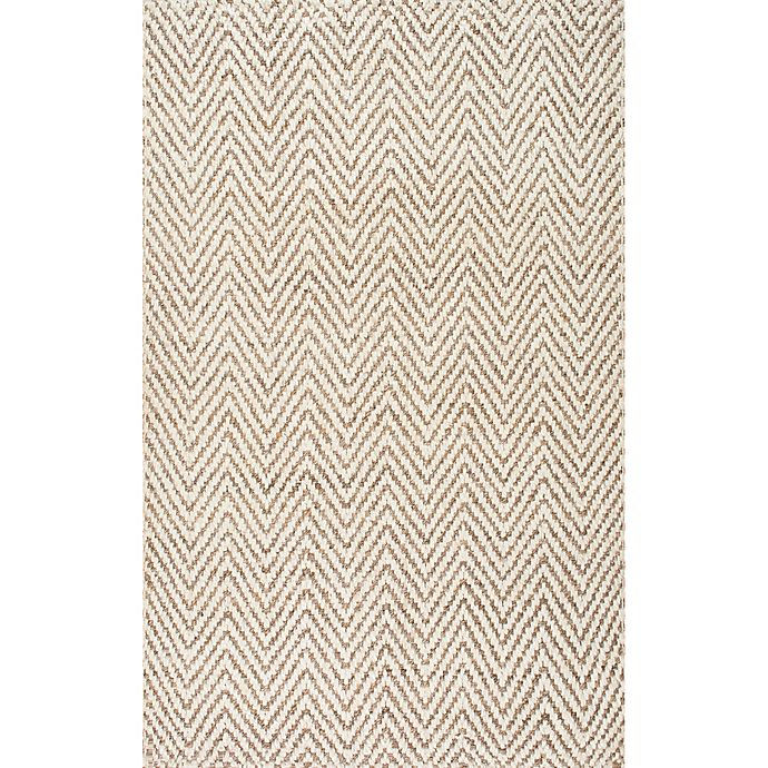 Alternate image 1 for Vania Chevron 9-Foot 6-Inch x 13-Foot 6-Inch Area Rug in White