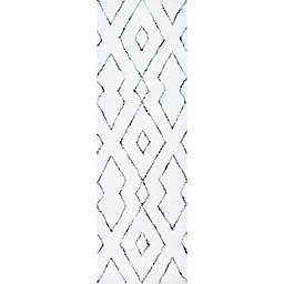 nuLOOM Beaulah Shaggy 2'6 x 8' Runner in White