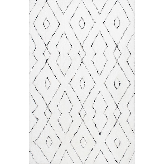 Alternate image 1 for nuLOOM Beaulah Shaggy 9-Foot x 12-Foot Area Rug in White