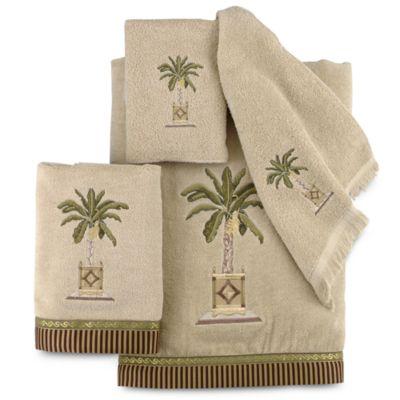 Avanti Banana Palm Hand Towel In Linen